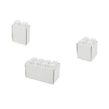Everblock Jr PACK COMBO DE 29 PIÈCES (3 tailles de Everblock Jr blanc + tablettes de finition Jr blanc)